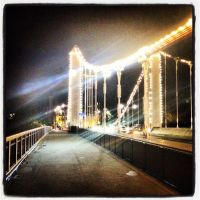 Chelsea Bridge Lights by LW-M-E-D-I-A