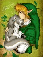 Link and Pup Link :redrawn: by srs17