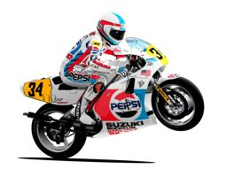 Kevin Schwantz RGV500 Suzuki by RacerTees