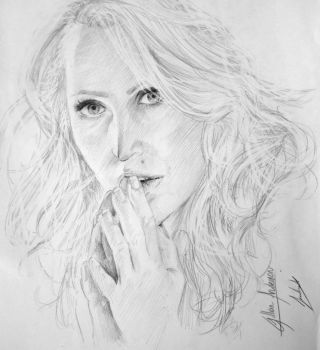 Gillian Anderson by JossyMinze
