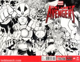 Uncanny Avengers sketch cover by ToddNauck