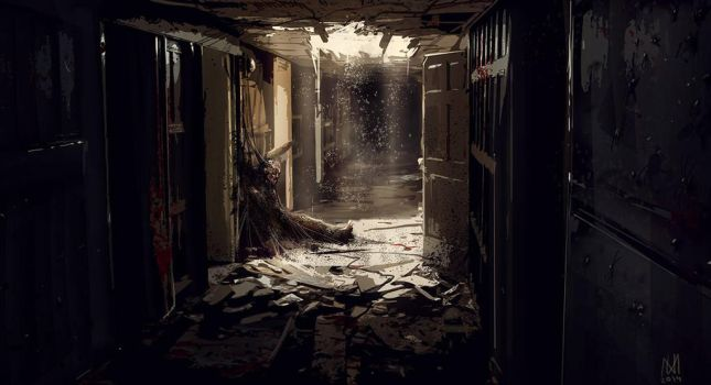 Infested corridor by norbface