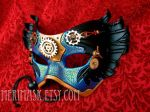 Blue Gold Il Tempo Vola mask by merimask