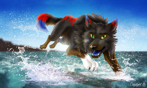 Through the Water by TheDaylightWolf