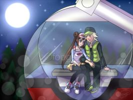 Pokemon BW2 - Rosa and Curtis by foogie