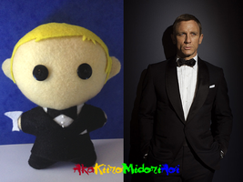 James Bond Plushes: James Bond by AkaKiiroMidoriAoi