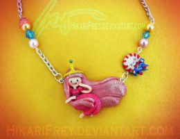 Bubblegum- Adventure Time Necklace- Commission by HikariFrey