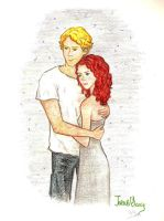 Jace and Clary by Jen7waters