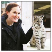 My Bobcat and Me by TeaPhotography