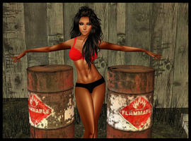 Brianna: Very Flammable-PhotoShoot 1 by LaraLuvsMe