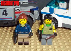 Lego Resident Evil 5 Jill and Chris by weskerchild117