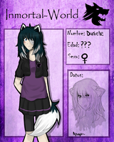 .::Inmortal-World- Ficha - Danielle::. by Elizabeth7535