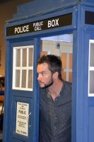 Gareth David-Lloyd in the TARDIS (1) by masimage