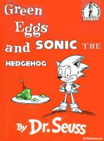 Sonic and Green Eggs and Ham by mrstupes