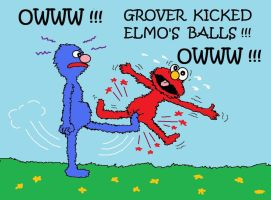 Low Blow for Elmo by AVRICCI