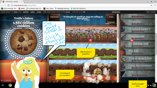 How to play cookie clicker by TaintedTruffle
