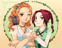 +. Spring Princesses : Mimi and Binka .+ by Goku-chan