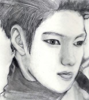 Almost finished drawing of Infinite's L by zodiacbunnyrabbit