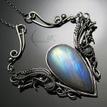 FEALHTIRX - silver and moonstone by LUNARIEEN