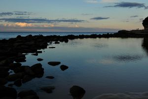 Avoca rockpool and headland 1 by wildplaces