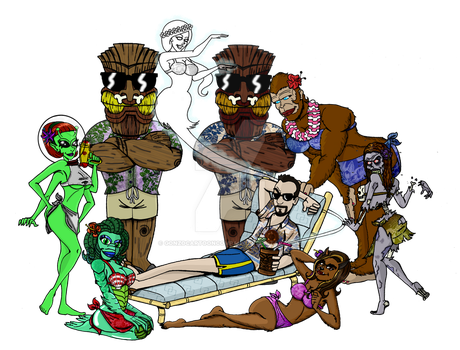 Paranormal Trop Culture-Sagers and his Beast women by Gonzocartooncompany