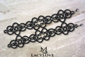 Tatted bracelet PANDORA by LacyLoveHandmade