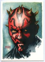 Darth Maul SketchCard by Erik-Maell