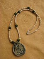 Celtic canine necklace 2 by lupagreenwolf