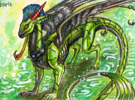 ACEO trade: Sybila Sulfur by VentralHound