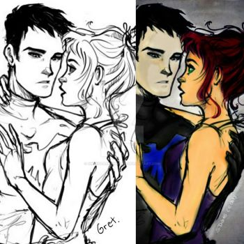 Nightwing and Starfire 2 by SweetDARKangel16