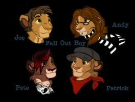 Fall Out Boy lions by Emo-Hellion