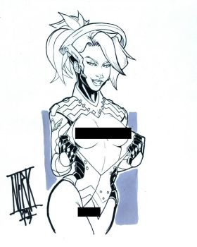 nsfw Overwatch Mercy by nork