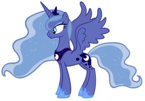 Princess Luna Season 1 colors vector by Durpy