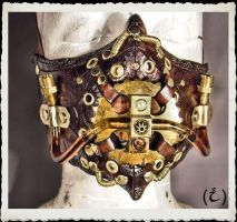 Steampunk leather mask by IsilWorkshop