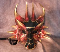 Fire Dragon Leather Mask by Jedi-With-Wings