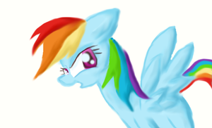 rainbow dash 3d(15/02/2013) by pinkamena1999