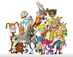 Nicktoons of the 90's by namehmakki