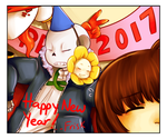 [Undertale] Happy New Year! [2017] by XxkaibutsukoxX
