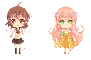 -- Chibi commissions for Keychain -- by Kurama-chan