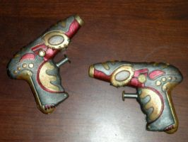 Twin Mini Steampunk Guns by StudioSandM