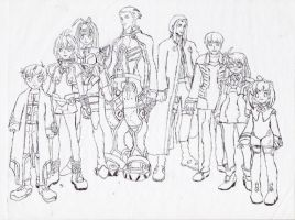 Xenosaga crew by Lady-of-Link