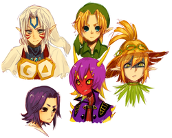 Majora's Mask -- some guys by onisuu