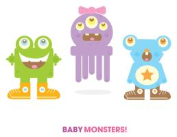 Baby Monsters by manriquez
