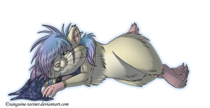 AT:Sleepy hammy by sanguine-tarsier