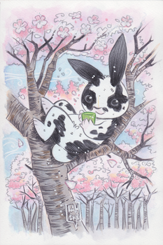 Commission: Green Tea Bunny by DivaLea