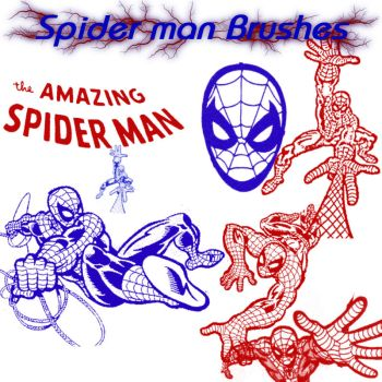 SpiderMan Photoshop Brush Set by dcdward