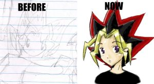 Before and After Yugi by blackxlily