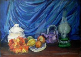 Still Life with Oil Lamp by Silvestris9