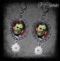 Leatherface Earrings by FrillsandMorbidity