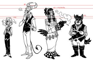 linework lineup by Grim-Amentia